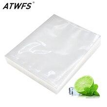 Atwfs 100 Stks/partij Vacuümzak Food Vacuum Sealer Vacuüm Zakken Voor Voedsel Sous Vide Verpakking Machine Verpakking Zakken