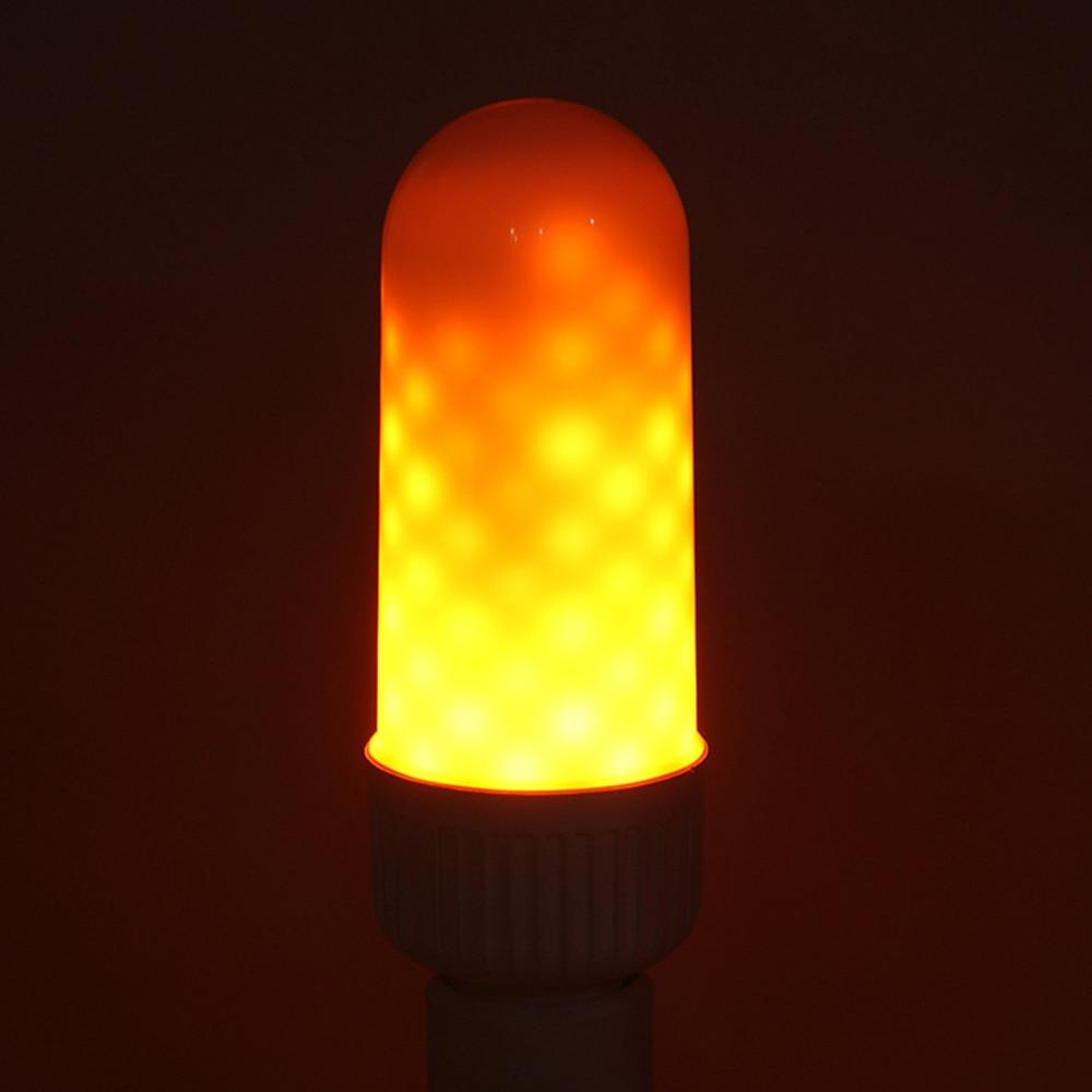 LED Flickering Flame Effect Light Bulb Lamp E26/ E27 5W Simulation True Fire Flash Flaming Lighting for Bar Festival Decoration
