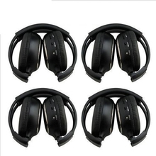 HQ 4PCS IR Wireless Headphones Headsets for Car DVD Player L Flip Down&Headrest                                               #5 brand new infrared stereo double channel wireless headphone headset earphone ir car headrest dvd player