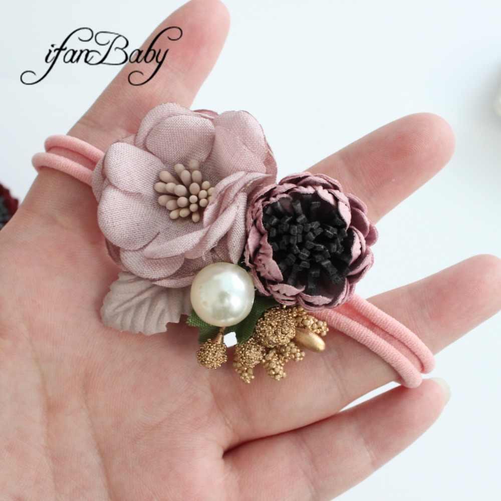 Flor de boutique diadema niñas diadema de nailon elástico