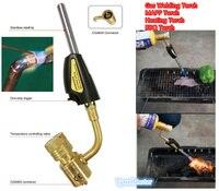 Mapp Gas Brazing Torch Self Ignition Trigger Catridge Propane Welding Plumbing CGA600 Burner Heating