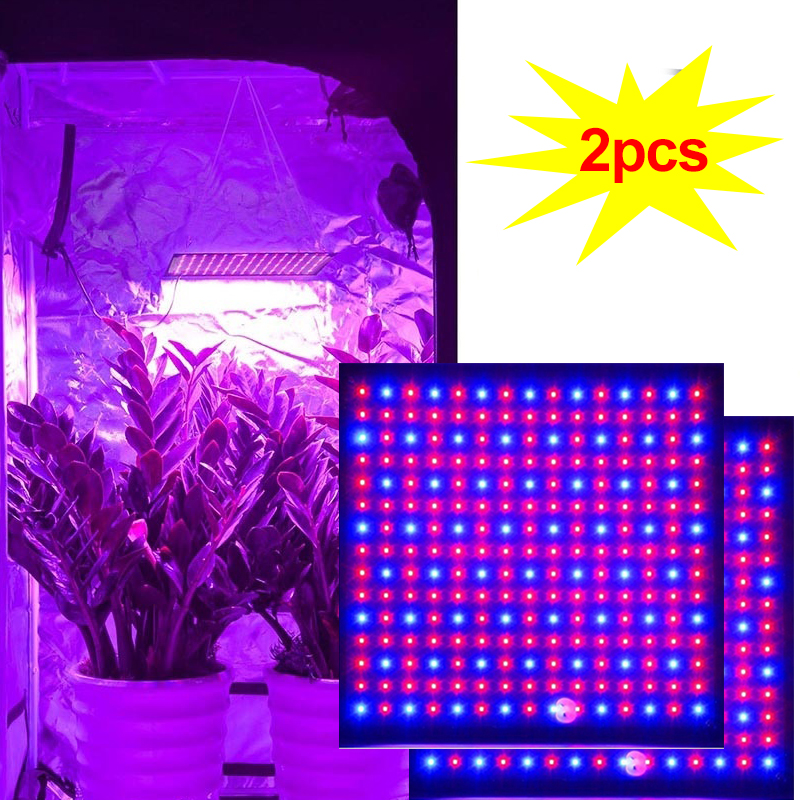 Grow Tent 1pc/2pc Lamp For Plants 500W 225 LED Grow Light Phyto Lamp Fitolampi Led Full Spectrum Herb Grow Box Room Growth Light