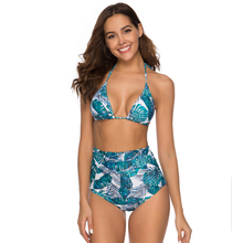 Купить с кэшбэком High Waist Bikini Sexy Female Swimsuit 2019 Plus Size Swimwear Women Brazilian Push Up Bikinis Set Swimming for Bathing Suit