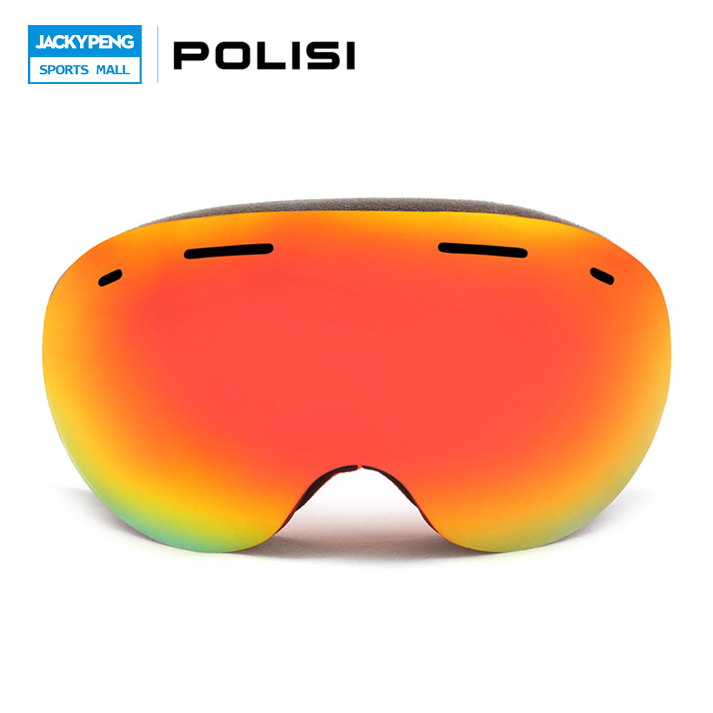POLISI Women Men Double Layer Anti-Fog Lens Glasses Winter Ski Snow Goggles UV400 Outdoor Sport Snowboard Protective Eyewear topeak outdoor sports cycling photochromic sun glasses bicycle sunglasses mtb nxt lenses glasses eyewear goggles 3 colors