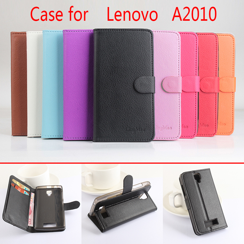 Litchi Lenovo A2010 case , Good Quality New Leather Case + hard...