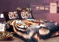 3d тигр животных печати постельные принадлежности комплекты король, королева размер пододеяльник покрывало простыни в сумке листа хлопок с