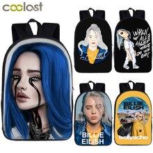 Billie Eilish backpack for teenager boys girls hip hop children school bags rapper women causal bag student school backpack