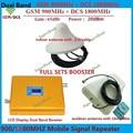 GSM 900 4G LTE 1800 (FDD Band 3) Pantalla LCD Ganancia 65dB Repetidor de doble Banda GSM 900 mhz DCS 1800 mhz Móvil Celular Amplificador de Señal