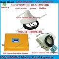 GSM 900 4G LTE 1800 (FDD Banda 3) Dual Band Repetidor Lcd Ganho de 65dB GSM 900 mhz DCS 1800 mhz Móvel Celular Signal Booster