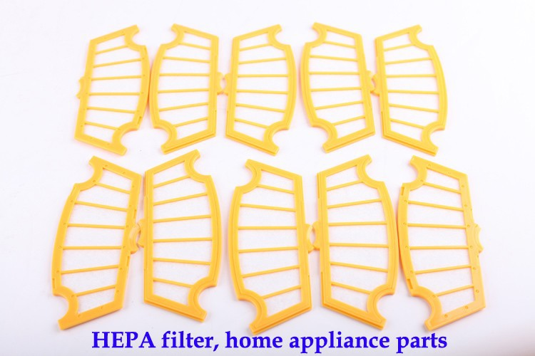 (For A320,A325,A330,A335,A336,A337,A338) HEPA Filter for Robot Vacuum Cleaner, 10pcs/ pack, Home Appliance Parts for cleaner a320 a325 a330 a335 a336 a337 a338 spare part for robot vacuum cleaner rubber brush side brush vacuum cleaner parts