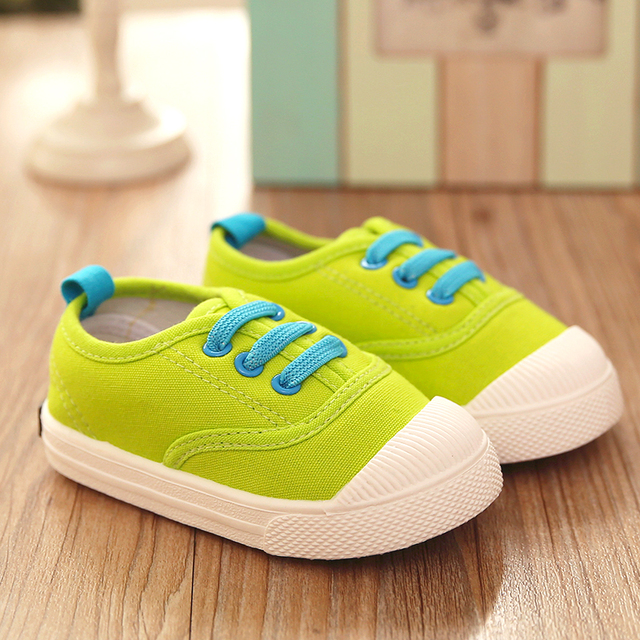 2017  children canvas shoes for men women and baby Korean toddler tide