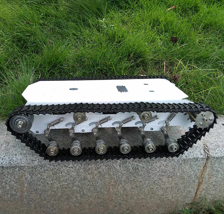 T750 Rvs Tank Crawler Robot Chassis Mobiele Smart Auto Dubbele Magazijn Ontwerp Hoge Compatibiliteit Voor Diy Robot
