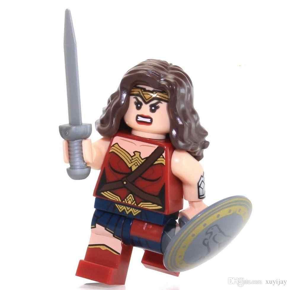 Enkele Verkoop Wonder Vrouw Diana Dawn van Justice Super Heroes Batman Superman Monteren Model Bouwstenen Minifig Kids ToysGift
