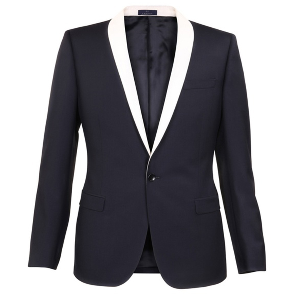 Hot Sale Custom Made to Measure Men Suit, Navy Blue Tuxedo with ...