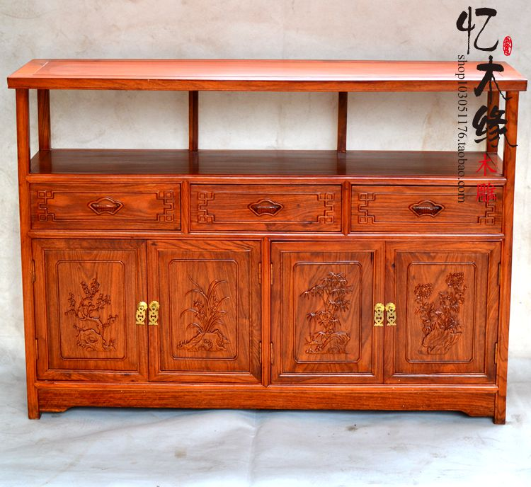Mahogany furniture, solid wood dining side of Ming and Qing Dynasties tea cabinet classical Chinese rosewood cabinet bowl of win журнальный столик classical ming ming and qing furniture