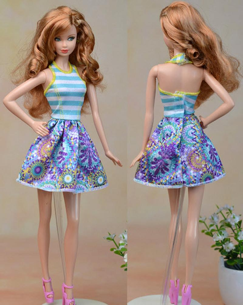 Excessive High quality Hand Made Blue Vest Doll Costume Quick Costume For Barbie Dream Home For 1/6 Dolls