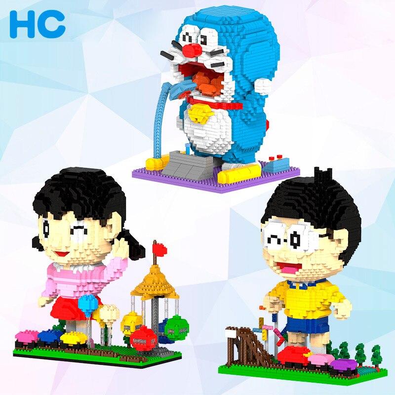 Magic Diamond Building Blocks Bricks Cartoon Doraemon Shizuka Nobita Anmie Friends Block Educational Toys for Children Boy Girl