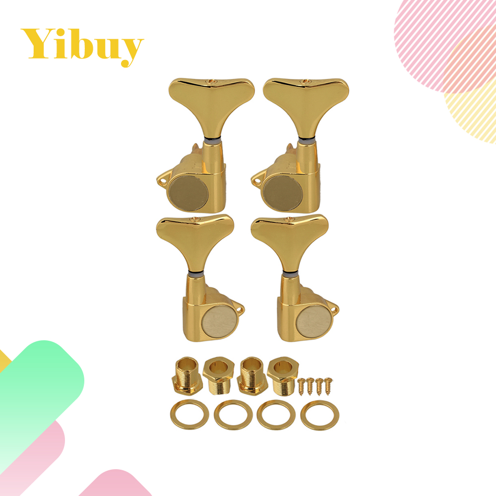Yibuy Gold J OR P Bass Tuners Machine Heads Tuning Pegs(2L+2R) ...