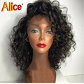 130/150/180 Glueless Full Lace Human Hair Wigs Brazilian Curly Lace Front Wigs With Baby Hair Curly Short U Part Human Hair Wigs