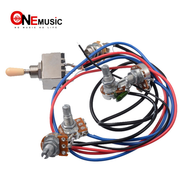 Aliexpress.com : Buy 1 set Wiring Harness Prewired 2v2t 3 way Toggle on gibson les paul wiring mods, gibson 50s wiring, gibson switch wiring, gibson es-335 wiring,