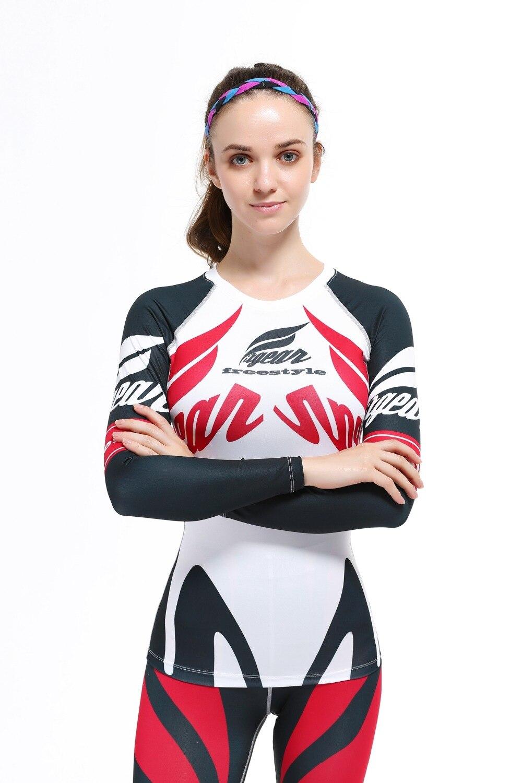 2017 mujeres de la marca Ciclismo jersey blanco Rojo Negro Bicicletas manga larga Mountain MTB Jersey calidad señoras ropa ciclista Camisas