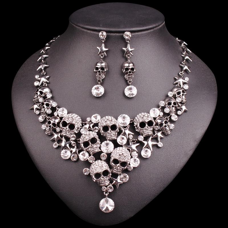 Ensemble de bijoux en crâne: Collier et  ...