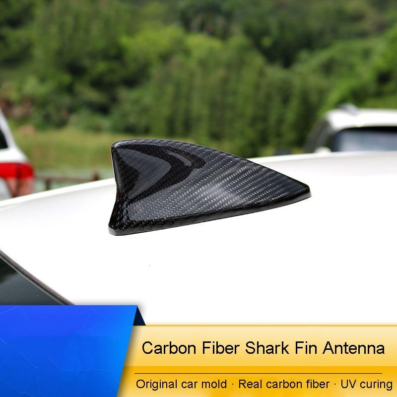 QHCP Carbone fibre 1 pièces Toit Aileron de Requin Antenne De Voiture autocollants de décoration Pour LEXUS IS200T 250 RC200 300 Voiture-style auto Accessoire