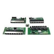OEM PBC 8-портовый гигабитный Ethernet коммутатор 8 портов met 8-контактный разъем 10/100/1000 m концентратор 8way штекер питания печатная плата OEM schroef gat