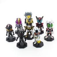 8pcs Lot Anime Action Figure Toys Masked Rider 1 10 Scale Painted Figure Kamen Rider Stronger