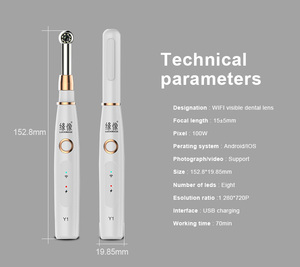 Image 4 - Wireless Dental Endoscope WiFi HD USB Intra Oral Dental Intraoral Camera LED Light Real time Video Inspection Teeth Tool
