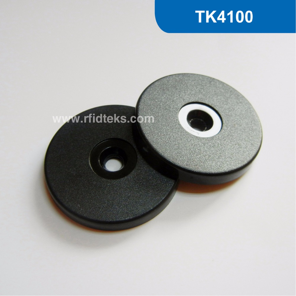 RT40 Dia 40mm ABS RFID Token Tag, RFID Proximity ID Token for Patrol Guard System 125KHz with TK4100/EM4100 Chip free shipping waterproof contactless proximity tk4100 chip 125khz abs passive rfid waste bin worm tag for waste management