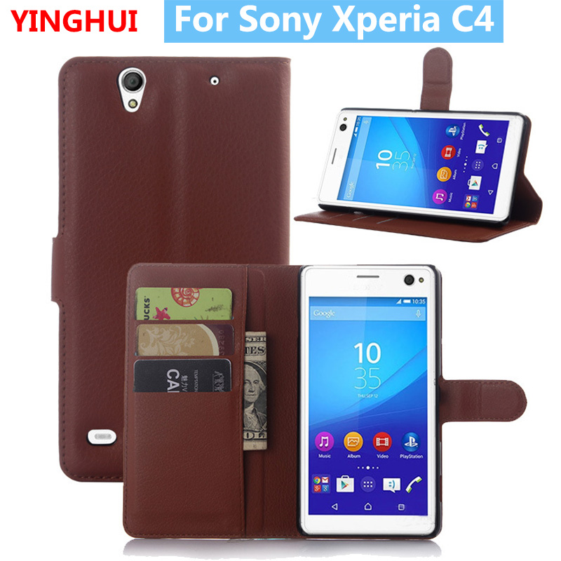 For Sony Xperia C4 Case Hight Quality Flip Leather Case For Sony Xperia C4 Case Fashion Stand Cover For Sony Xperia C4