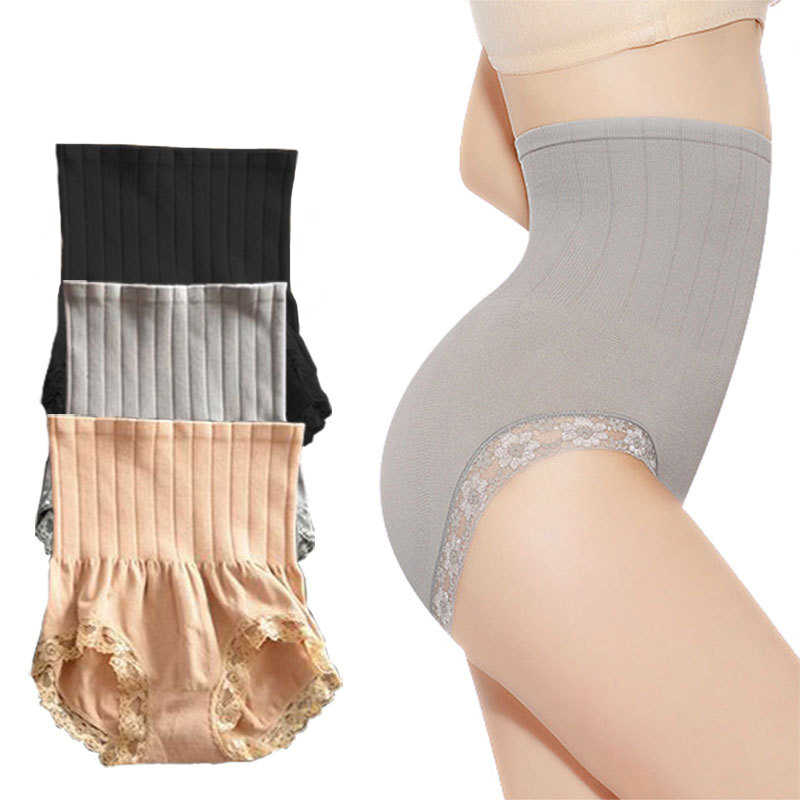 d006c0088657 Pregnant Postpartum High Waist Briefs Slimming Tummy Control Underwear Lace  Breathable Body Shaping Panties For Women