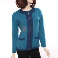 100% козья кашемир толстой вязки Женская мода в милый горошек на молнии свитер О образным вырезом Роза красная 3 вида цветов M 3XL