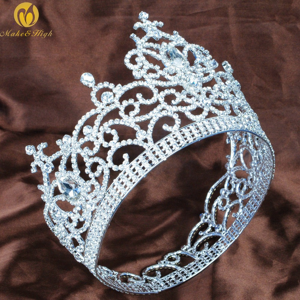 Gorgeous Large Flower Tiara Diadem Austrian Rhinestone Silver Headband Hair Jewelry Pageant Party Art Deco skmei men watch sport altimeter pressure thermomet weather pedometer calories compass multifunction led digit wrist watches men