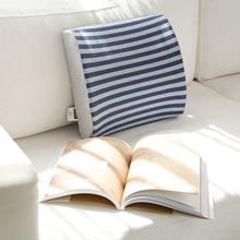 Car Seat Lumbar Support Striped Cushion Memory Foam Auto Accessories Chair Back Pillow Cushion For Home Office 34x32x10cm