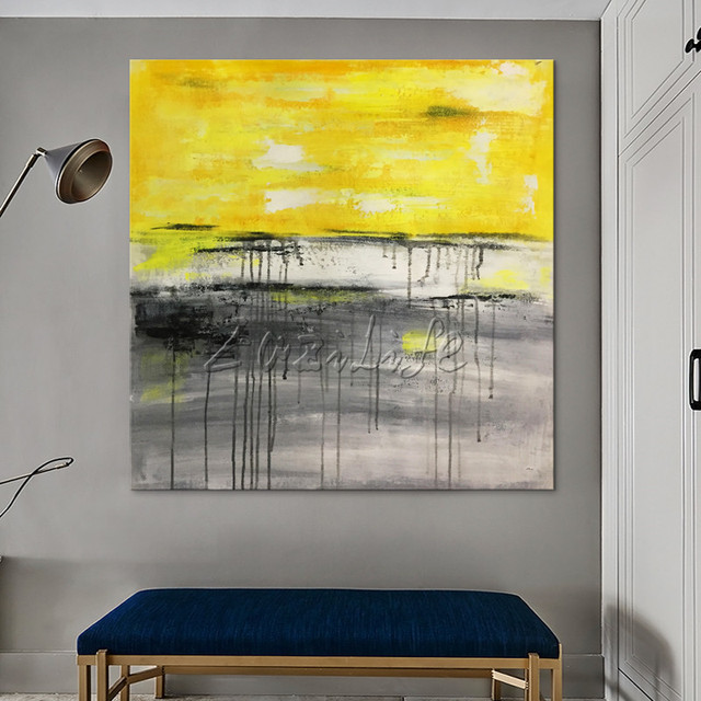 Canvas painting Modern abstract acrylic nordic painting abstract ...