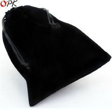 OPK JEWELRY Hot Selling Wholesale Black Drawstring Velvet Pouch Bag for Jewelry Size 3.5 inch X 2.7 inch, 170(China)