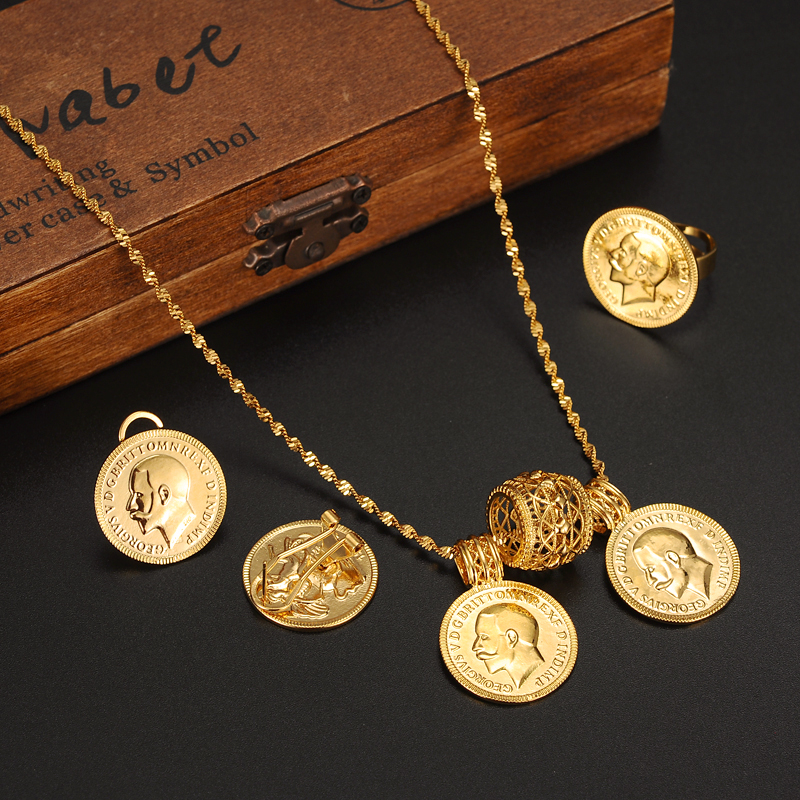 24k gold coin jewelry setsethiopian coin set necklace twin pendant 24k gold coin jewelry setsethiopian coin set necklace twin pendant earrings ring habesha wedding eritrea africa arab gift in jewelry sets from jewelry aloadofball Image collections