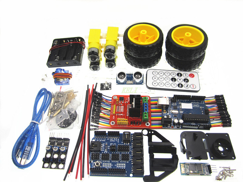 Multifunction Bluetooth Controlled Robot Smart Car Kits For font b Arduino b font uno