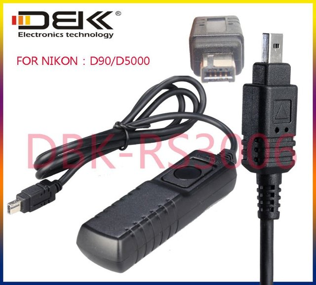 RS-3006  Cable Style Remote Switch For Nikon D80/D70S