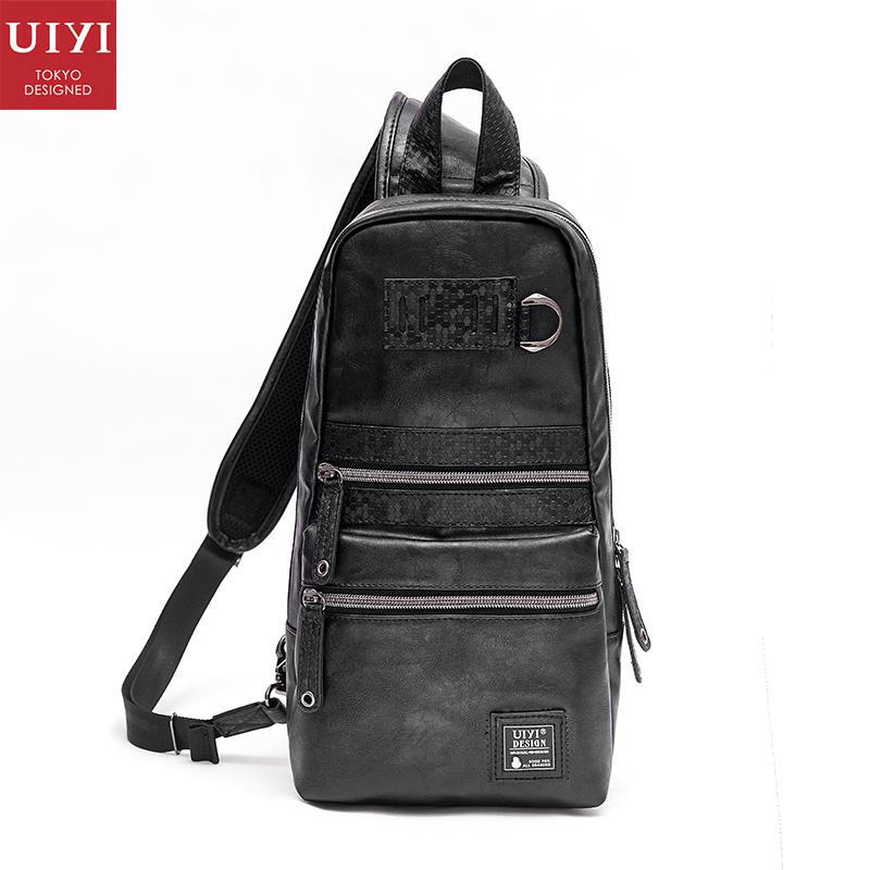 UIYI Brand Handbag Men PU Leather Casual Crossbody Messenger Bag Design Male Black Patchwork Shoulder Sling Bags 160123 uiyi original design men handbag pu leather satchel messenger crossbody bag small casual business shoulder sling bags 160108