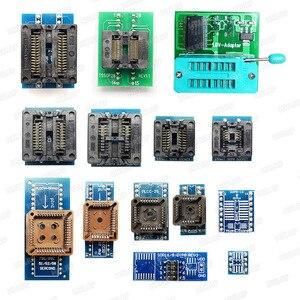Image 2 - XGECU 100% 오리지널 TL866II Plus 범용 Minipro 프로그래머 + 24 어댑터 + 테스트 클립 TL866 PIC Bios 고속 프로그래머