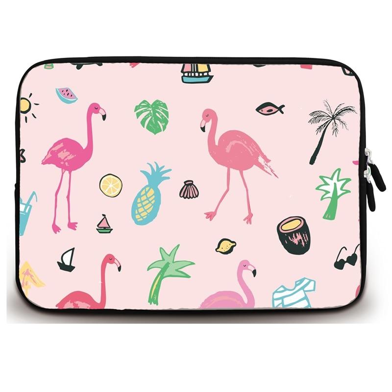 Xxh 13Inch Laptop Sleeve Case Pink Flamingo Neoprene Cover Bag Compatible IPad Pro