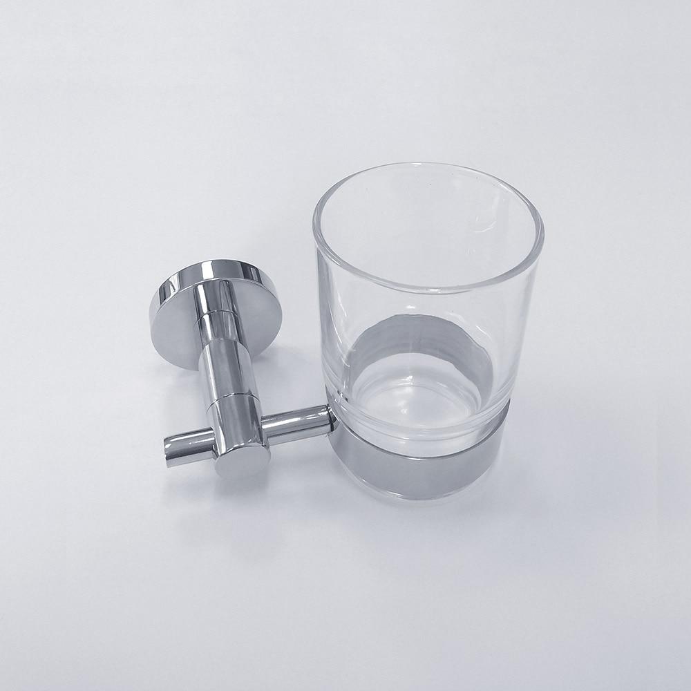 online get cheap modern toothbrush holder aliexpresscom  - tz modern clear glass single cup tumbler holder toothbrush holder chromedstainless steel wall mounted bathroom