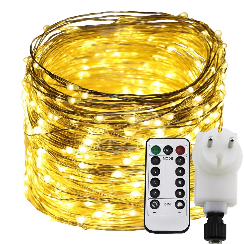 Remote Timer Dimable Led String Light 300 500 LEDs Starry Lights 30M 50M Warm White Christmas