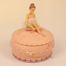 Beautiful ballet girl music box very cute girl jewelry box Holiday gifts