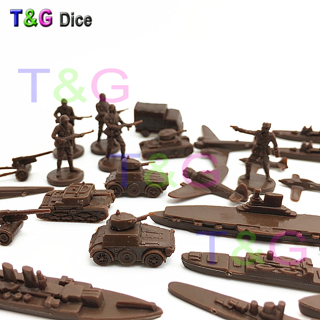 Plastic Mini Model 26pcs Soldier Ship Car Tank Plane for Collections Kid Toys Board Game