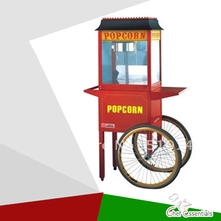 POP-06 economic popcorn maker commercial popcorn machine  with cart iclebo pop