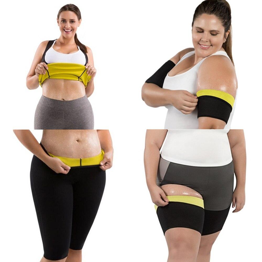 Vrouwen Shapers Neopreen Hot Body Shaper Broek Taille Trainer Afslanken Shirts Sauna Been Mouwen Zweten Gewichtsverlies Armen Fitness Pure Witheid